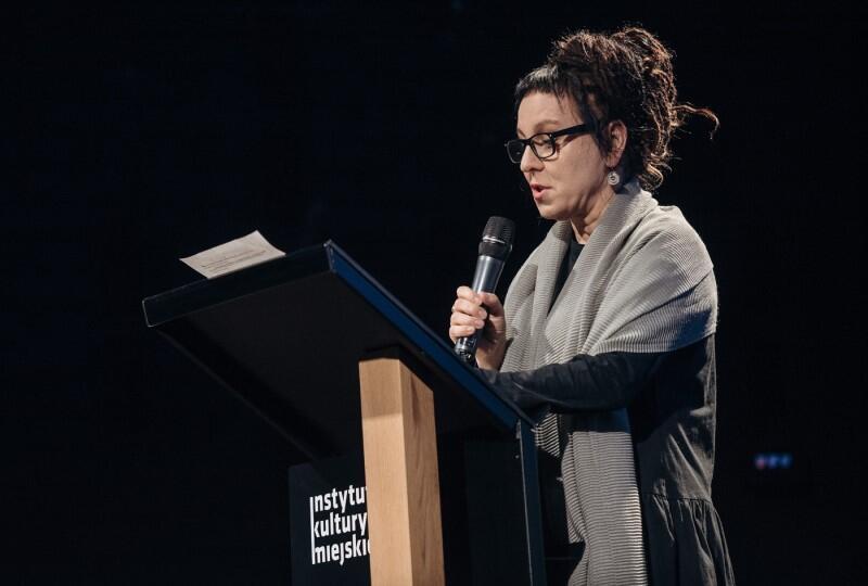 Na zdjęciu: Olga Tokarczuk podczas Gdańskich Spotkań Literackich Odnalezione w Tłumaczeniu