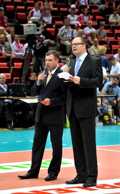 Prezydenci Sopotu Jacek Karnowski i Gdańska Paweł Adamowicz podczas otwarcia ERGO ARENY