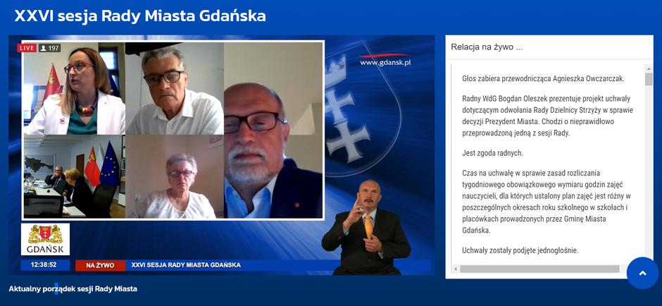 W związku z rosnącą liczbą zakażeń koronawirusem w naszym regionie, radni Gdańska powrócili do zdalnego systemu pracy