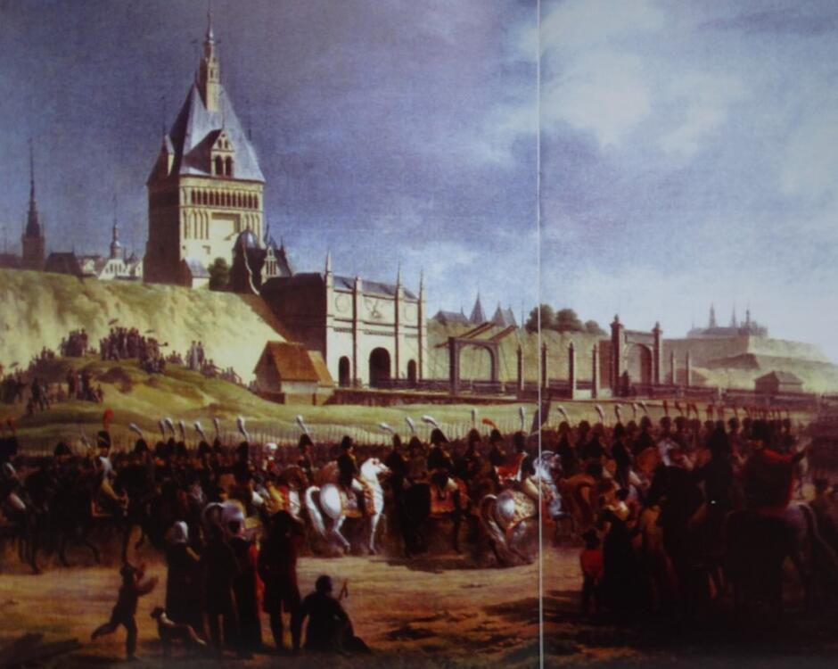 Znani i dostojni uroczyście wjeżdżali do Gdańska przez Bramę Wyżynną