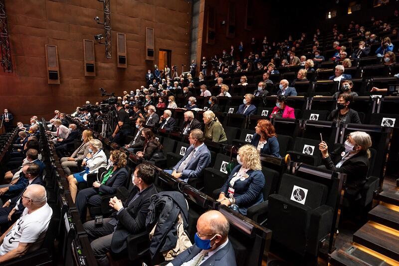 Audytorium Europejskiego Centrum Solidarności, ostatni dzień obchodów 40-lecia Sierpnia`80, 31 sierpnia 2020 r.