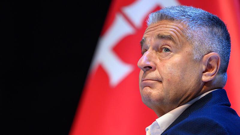 Władysław Frasyniuk podczas poniedziałkowej debaty w ECS