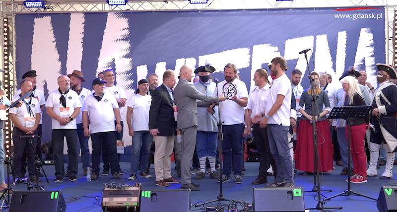 Przekazanie klucza żeglarzom to znak, że XXIV zlot Batlic Sail oficjalnie się rozpoczął