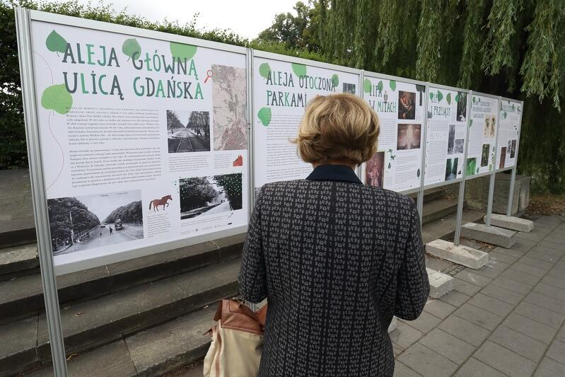 12 tablic informacyjnych, poświęconych Wielkiej Alei Lipowej, stanęło tuż przy gdańskim czołgu, przy al. Zwycięstwa