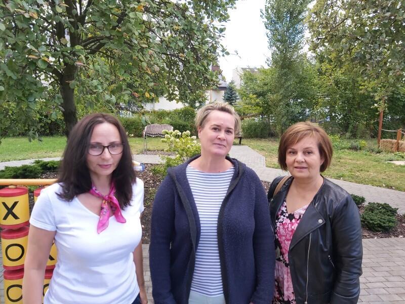 Nz. Ewa Olewicz (od lewej), Honorata Brodnicka, Jolanta Szuszkowska-Olechnowicz z zespołu Ośrodka ds. FASD