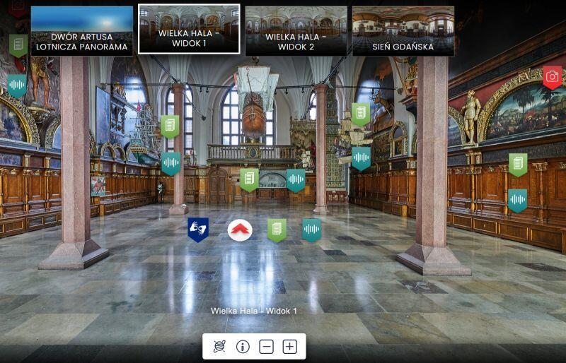 Dwór Artusa w Gdańsku w wersji wirtualnej