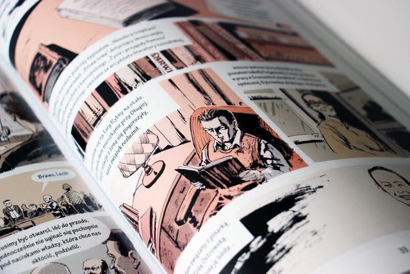 Komiks ukazał się z okazji obchodów Roku Lecha Bądkowskiego