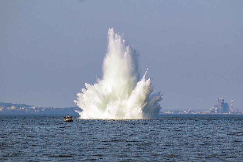 Neutralizacja pierwszej z min w wodach Zatoki Gdańskiej