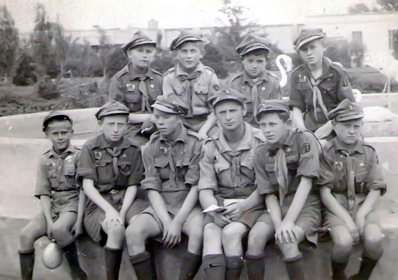 Harcerze z Helu podczas Zlotu w Spale, 1935 r.