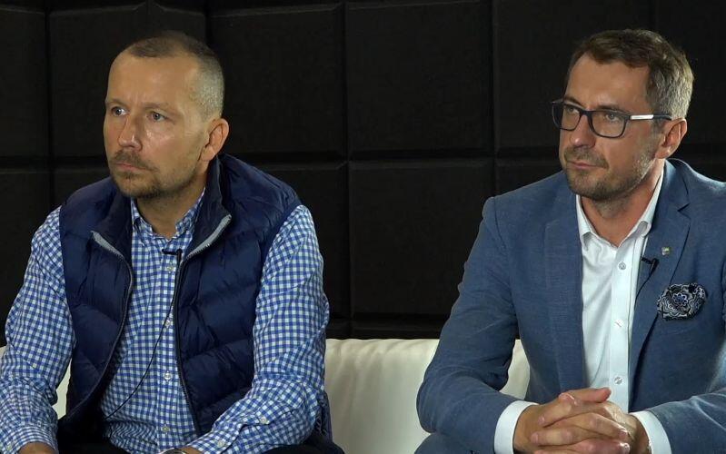 Michał Dzioba, prezes Zarządu Zakładu Utylizacyjnego w Gdańsku (po lewej) i Sławomir Kiszkurno, prezes Zarządu Portu Czystej Energii.