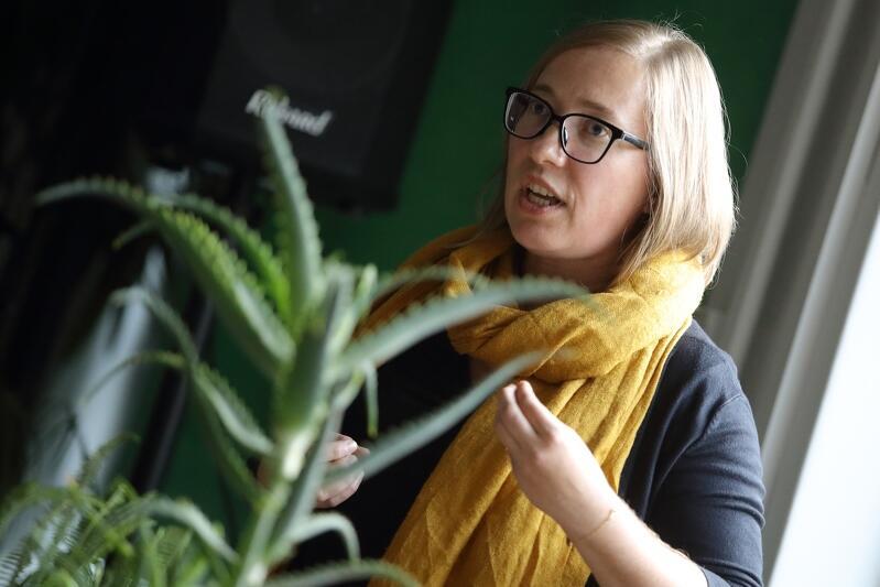 Nz. Joanna Paniec - główny specjalista ds. zielonej marki miasta w Biurze Prezydenta, Urzędu Miejskiego w Gdańsku