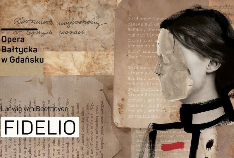 Plakat do premiery spektaklu Fidelio  w Operze Bałtyckiej