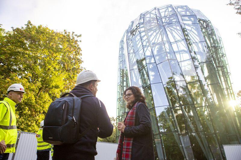 Budowę nowej rotundy, która zmierza do końca wizytowała prezydent Gdańska