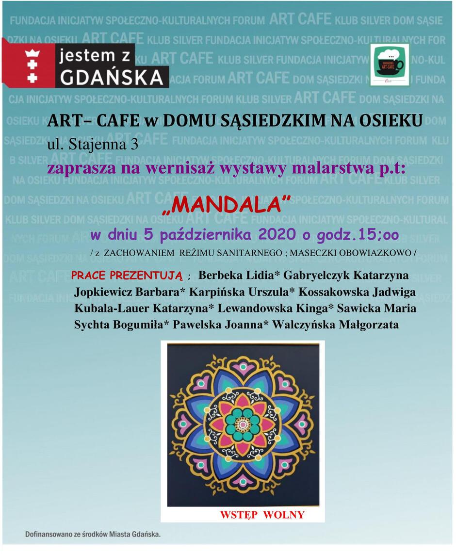 Plakacik - 5.10.2020 wernisaż MANDALA-1