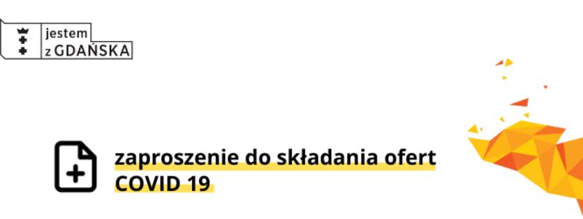 Biało-żółta grafika  z napisem zaproszenie covid19