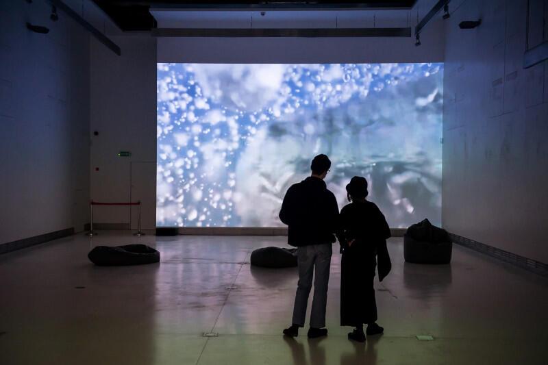 """Artystka Victoria Vesna stworzyła instalację, której celem jest zwiększenia świadomości o zagrożeniach dla wodnej bioróżnorodności. Wystawę zatytułowaną """"Noise Aquarium"""" od 2 października można oglądać w CSW Łaźnia. Z projektem można zapoznać się również online"""