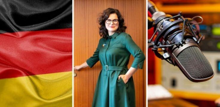 Sposób, w jaki 30 września Radio Gdańsk zilustrowało na swoim portalu publikację Skandaliczne wypowiedzi prezydent Dulkiewicz w niemieckim radiu. >>Chichot losu - metody faszystowskie nadal działają<<