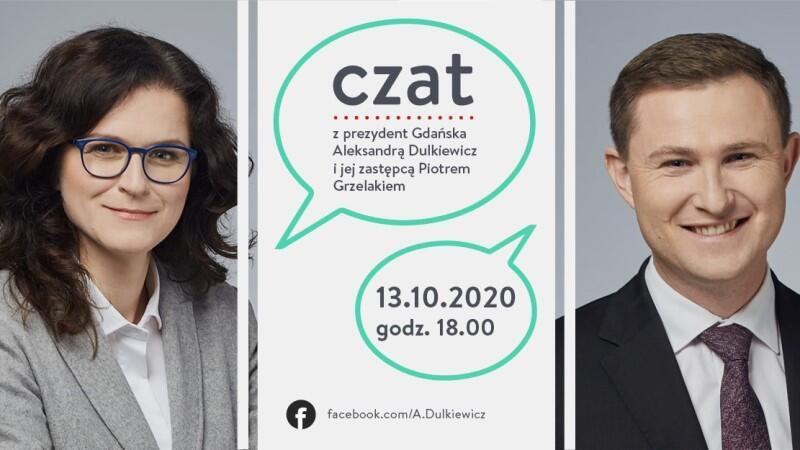 W dzisiejszym czacie oprócz prezydent Aleksandry Dulkiewicz będzie uczestniczył Piotr Grzelak, zastępca prezydenta Gdańska ds. zrównoważonego rozwoju