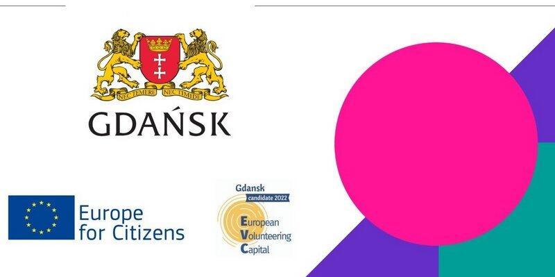 Baner promujący konkurs Europejska Stolica Wolontariatu 2022