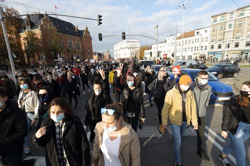 Protest w centrum Gdańska zakończył się po godzinie 16-tej