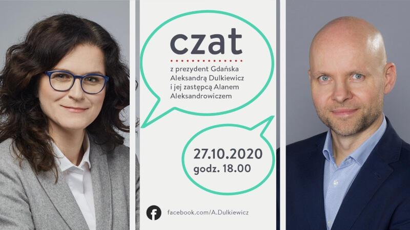 We wtorek, 27 października, z gdańszczanami i sympatykami, którym bliskie są sprawy miasta, spotkają się online prezydent Gdańska Aleksandra Dulkiewicz i zastępca prezydent ds. inwestycji Alan Aleksandrowicz