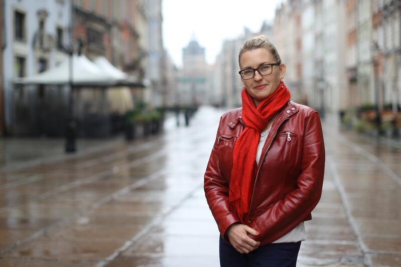 Monika Evini menadżerka Śródmieścia Gdańska koordynuje warsztaty `Hałas na Śródmieściu`