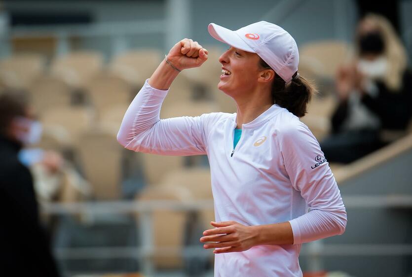 Iga Świątek - w październiku 2020 zwyciężyła w wielkoszlemowy turnieju French Open