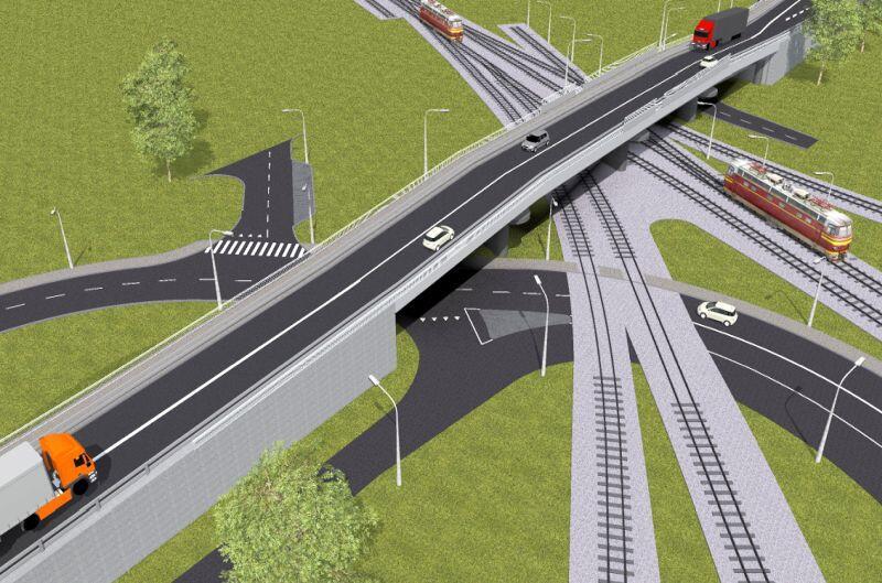 Wizualizacja nowe wiaduktu na torami kolejowymi