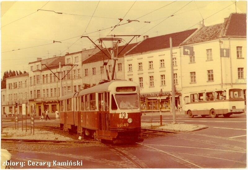 Wagon typu 102Na na linii 13, lata 80-te XX wieku, Gdańsk