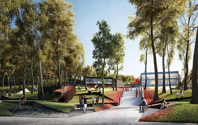 Zagospodarowany zostanie też teren wokół budynku - powstanie między innymi nowy park z przestrzenią relaksu