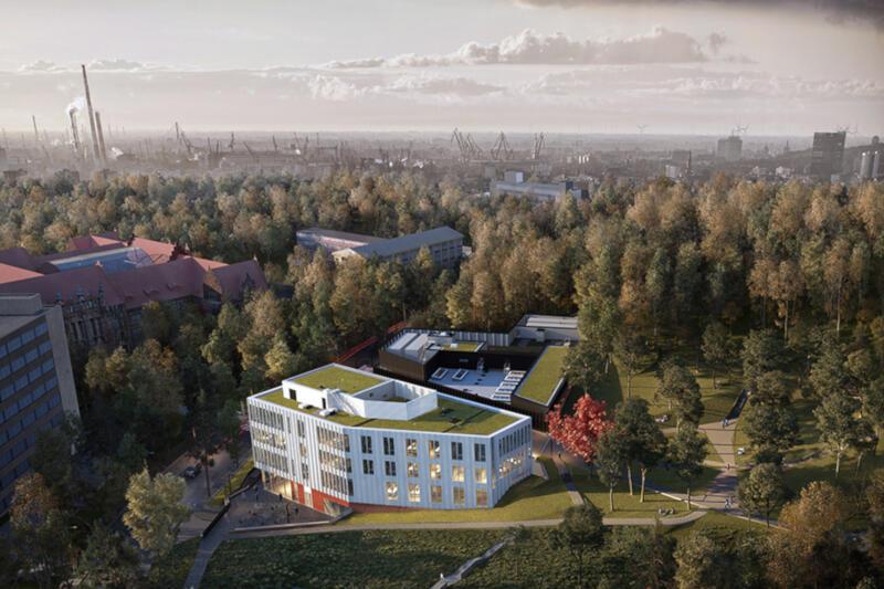 Obiekt powstaje na zboczu Szubienicznej Góry w Gdańsku Wrzeszczu. Jego powierzchnia wyniesie około 12 tys. metrów kwadratowych