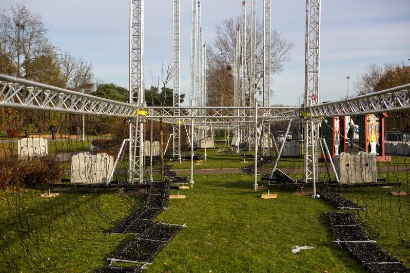 Park, stalowe konstrukcje