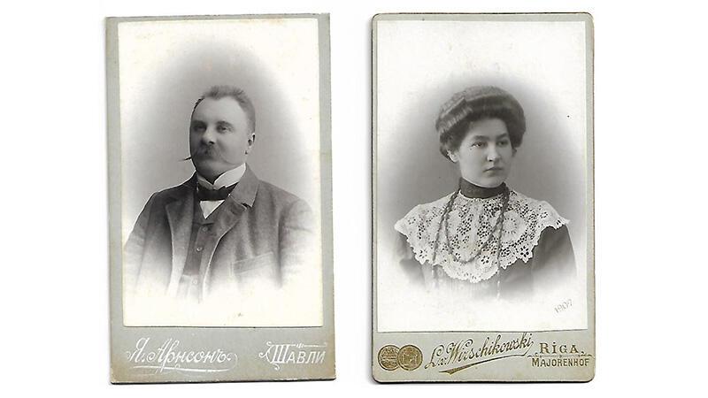 Leon i Marta Świechowscy, rodzice Kaliny Łukaszewicz - 1907 rok