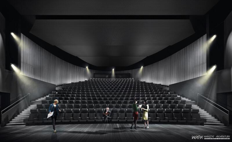 Duża Scena po modernizacji nie będzie miała balkonów, z których była ograniczona widoczność. Przebudowany zostanie cały układ widowni