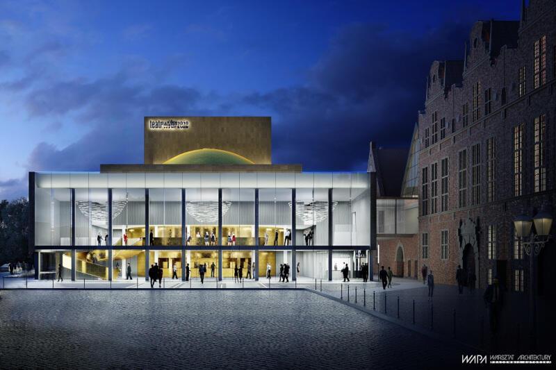 Przebudowana szklana fasada, podświetlona od wewnątrz, będzie przykuwała wzrok przechodniów. Tu widok od strony Targu Węglowego