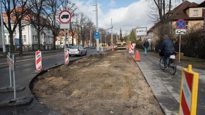 Remont drogi rowerowej - aleja gen. Józefa Hallera