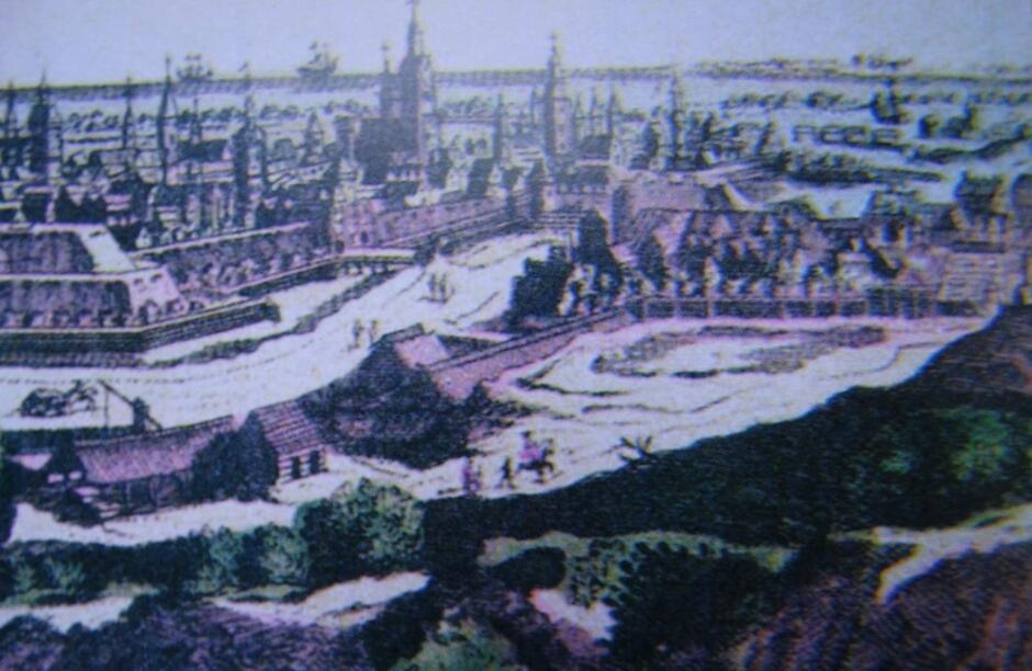 Widok kunsztu z Góry Gradowej, przełom XVIII/XIX wieku