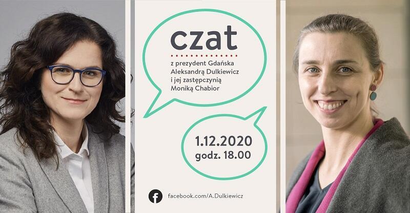 Prezydent Gdańska Aleksandra Dulkiewicz oraz zastępczyni prezydent Gdańska ds. edukacji Monika Chabior