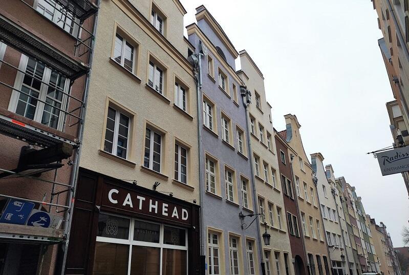 Odnowione fasady przy ul. Powroźniczej