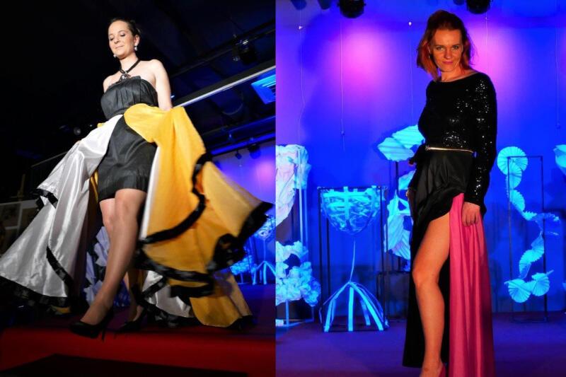 Wernisażowi towarzyszył pokaz kolekcji modowej, którą stworzyły uczestniczki zajęć z krawcową i kostiumolożką