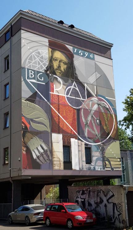 To zwycięski projekt muralu, który pojawi się na ścianie Biblioteki Gdańskiej PAN