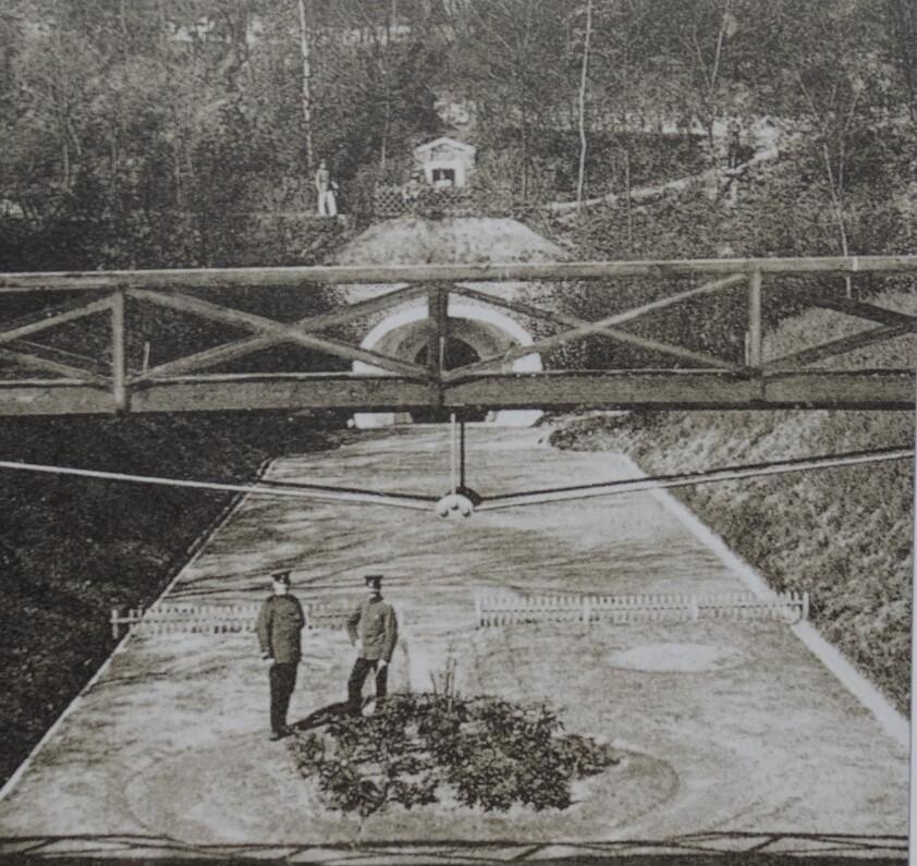 Fragment terenów rekreacyjnych na Górze Gradowej należących do szkoły; 1910