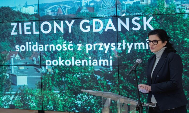 Aleksandra Dulkiewicz, prezydent Gdańska podczas konferencji Zielony Gdańsk. Solidarność z przyszłymi pokoleniami.
