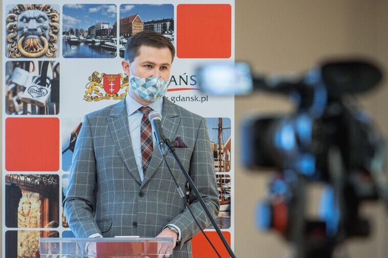 Piotr Grzelak, zastępca prezydent Gdańska podczas konferencji Zielony Gdańsk. Solidarność z przyszłymi pokoleniami