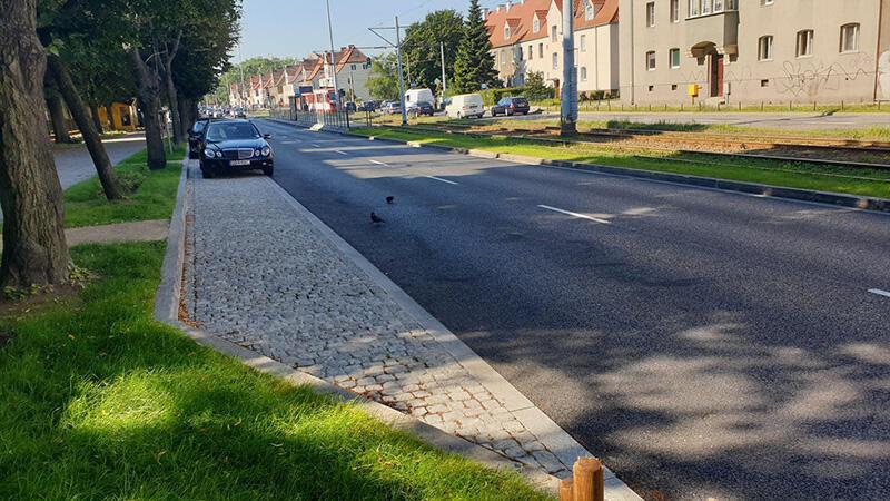 Fragment wyremontowanego odcinka al. Hallera w Gdańsku