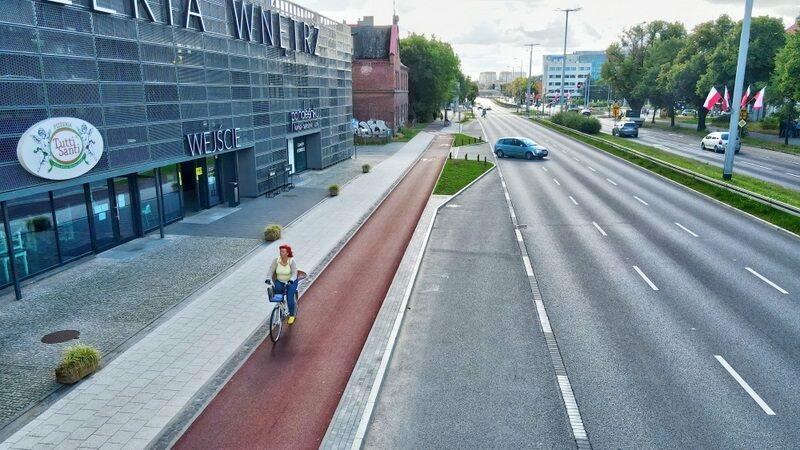 Dwa nowe kilometry wzdłuż al. Grunwaldzkiej dla gdańskich rowerzystów