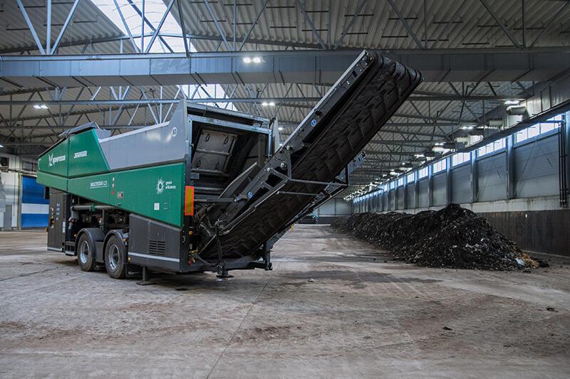 Jedna z maszyn pracujących w nowej gdańskiej kompostowni