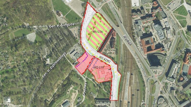 Obszar projektu planu numer 11105
