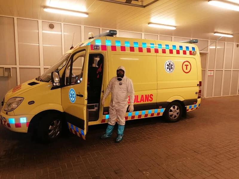 Stowarzyszenia Grupa Ratownicza Alfa to organizacja non-profit. W swoich zasobach posiada jedną karetkę, która w czasie pandemii transportuje pacjentów