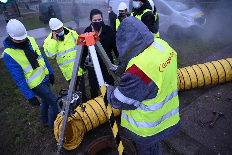 Na miejscu awarii jest prezydent Gdańska Aleksandra Dulkiewicz